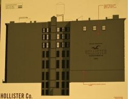 Hollister Mural plans for 600 Broadway NYC