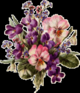 image of organic violets,  pansies and other flowers to use in green crafts