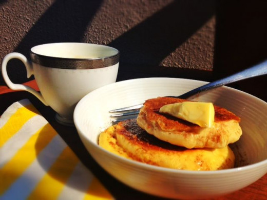 pancakes on the balcony