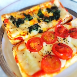 Healthy Aburaage Pizza