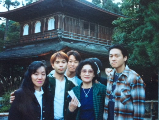 Visiting Kyoto with mother and friends.