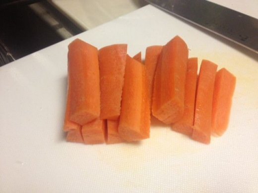 If you prefer carrots, cut them like so.
