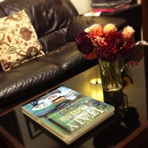 The books also look fabulous in my Tokyo living room.