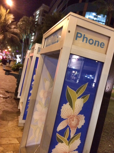 Even the phone booths says Aloha!