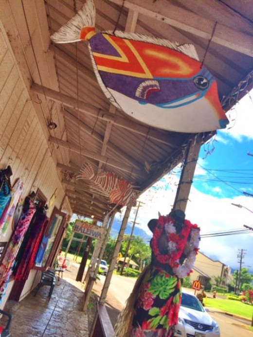 Haleiwa has an old-time feel to it with organic restaurants, small grocery stores and art galleries.