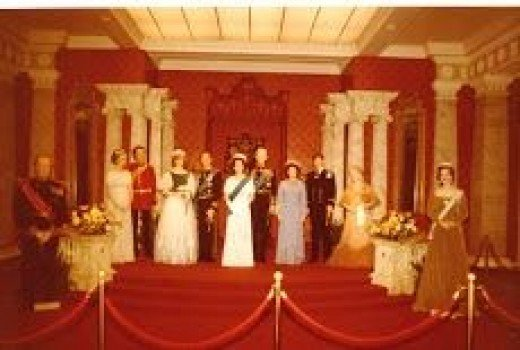 The Royal family at Madam Tousods