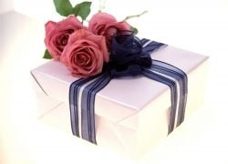A Wrapped Gift Suitable For A Woman