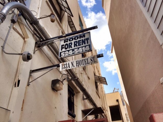 """The """"For Rent"""" sign that caught my attention."""
