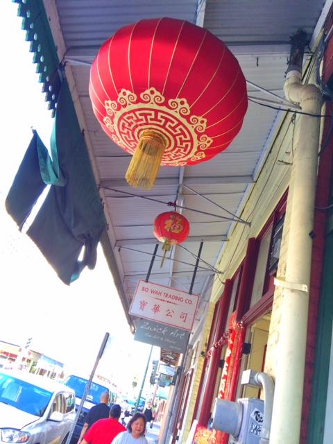 Red lanterns dot this historical district.