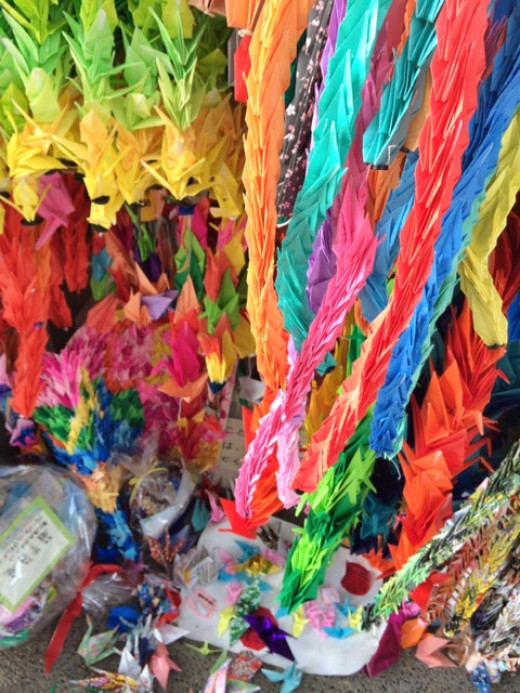 Sasaki Sadako, a young girl who died from radiation believe that if she folder 1000 paper cranes, she would be cured.