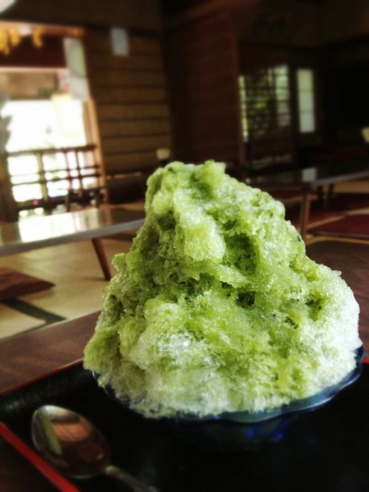 Another much-needed break of some shaved ice with matcha syrup. Ahhh, now that hits the spot.