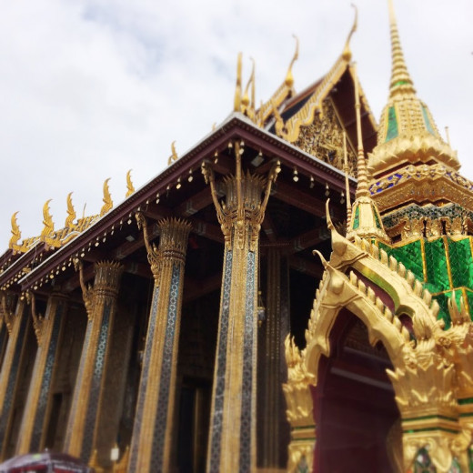 Inside Wat Phra Kaew is the Emerald Buddha.