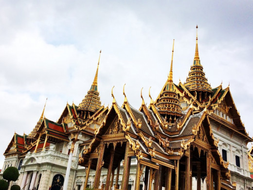 The incredibly ornate architecture of the Grand Palace.