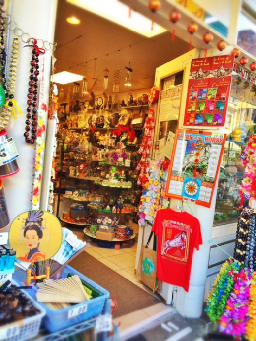 Chinese trinkets make inexpensive souvenirs.