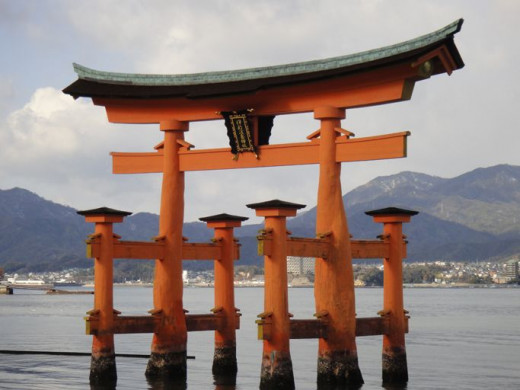 The torii at high tide.