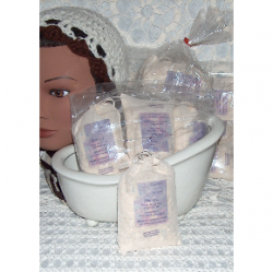 All natural bath salt teas to scent your bath or treat your feet in a foot bath
