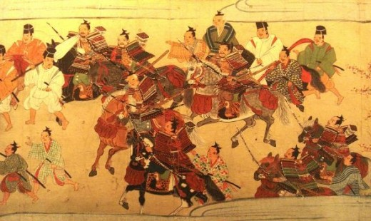 Ancient Samurai in Battle
