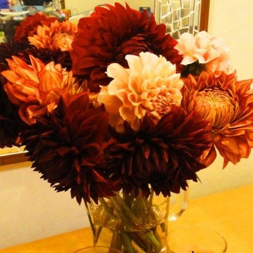 A beautiful bouquet of autumn flowers