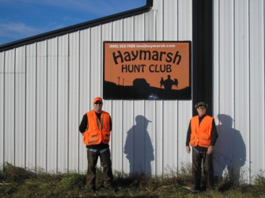 OUTSIDE THE CLUBHOUSE, JUST GETTING BACK FROM A GREAT HUNT