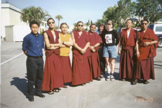 Drepung -Loseling Monks, Tenzin, Alesia and me