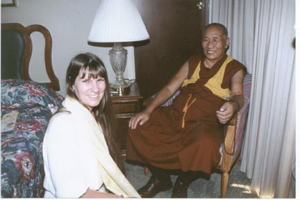 Meeting with H.H. Ganden Tri Rinpoche