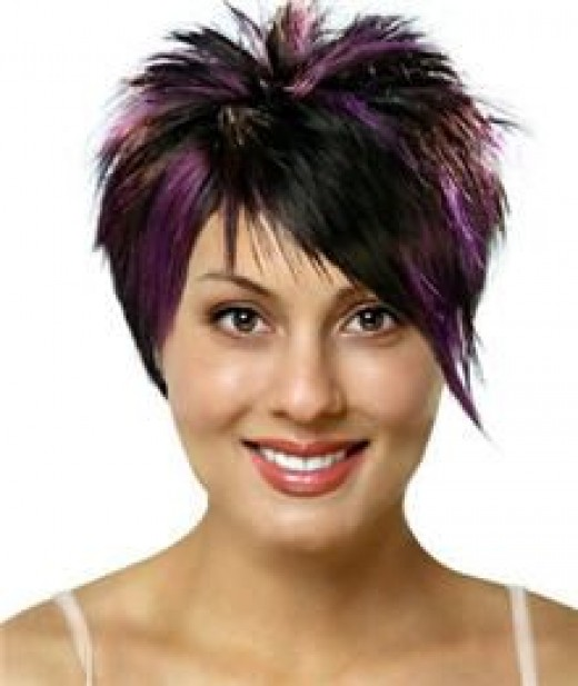 Purple and plum hair colors