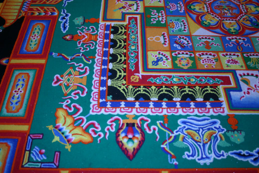 Some detail of sand mandala