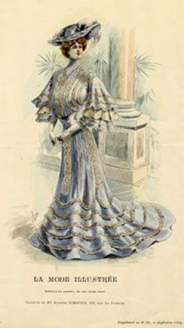 Edwardian Fashion Plate publick domain in US