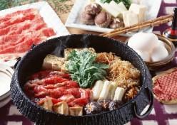 Sukiyaki, Asian fondue recipe. How to have an Asian soup fondue dinner.