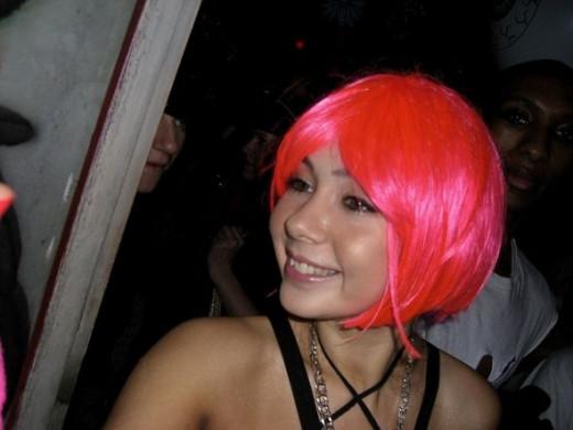 Pink Halloween Wig