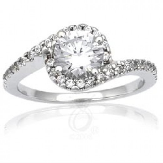 Style 9518-7.5mm Pave Engagement Ring