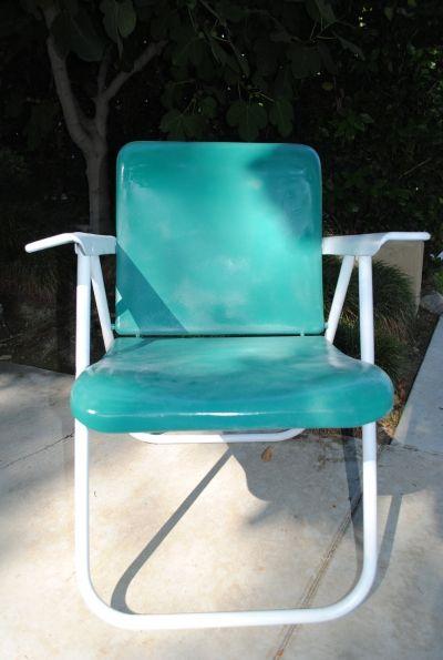 Russel Wright Samsonite Chair by Rareandfoundint.etsy.com