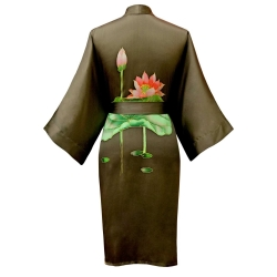 click to buy this short silk kimono robe