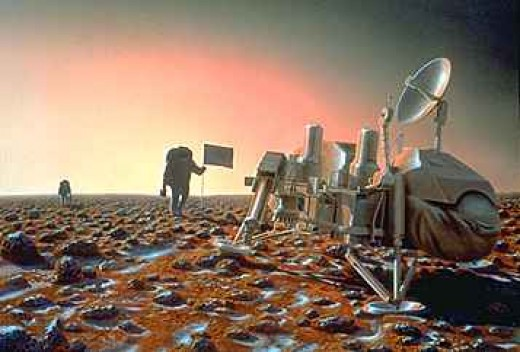 35 years after it landed on the red plains of Utopia Planitia, the Viking 2 Lander is visited by the first human explorers in 2011