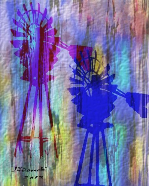 Abstract Windmill