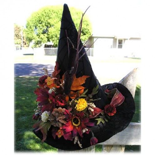 A witch hat is a great Halloween decoration that works pretty well indoors and outdoors.