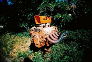 Engine squid thing mailbox.