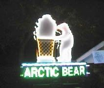 The Arctic Bear sign