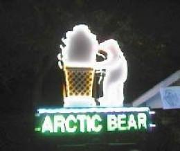 The Arctic Bear sign
