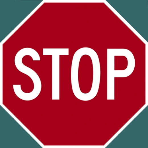 "Sometimes we have to just say ""Stop!"" when we feel we are losing control."