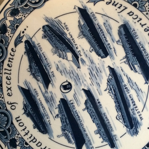 Blue fish plate fine descriptions.