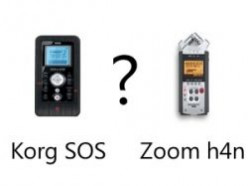 Korg SR-1 SOS vs Zoom h4n Handheld Digital Recorder Comparison