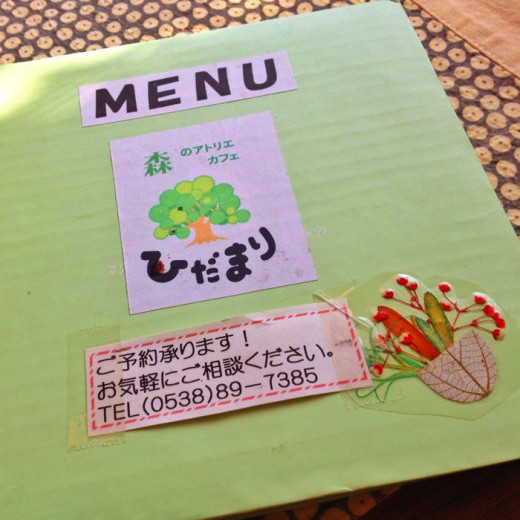 The hand-drawn menu adds to the cuteness of the place.