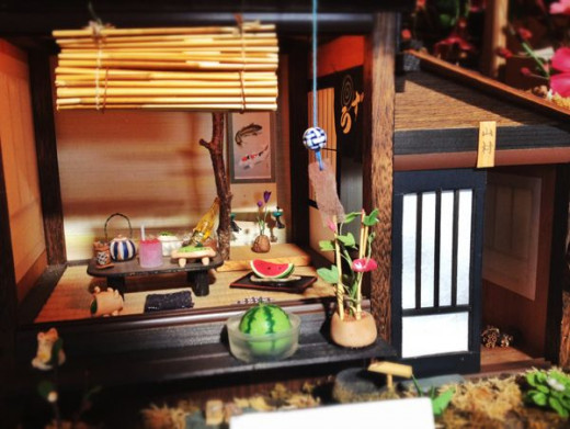 Summer scene of a traditional Japanese home