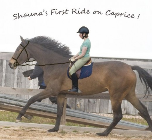 Shauna Riding Caprice Fun Shot Rider Superimposed Using Adobe Photoshop