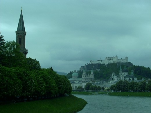 Old Salzburg from across the river