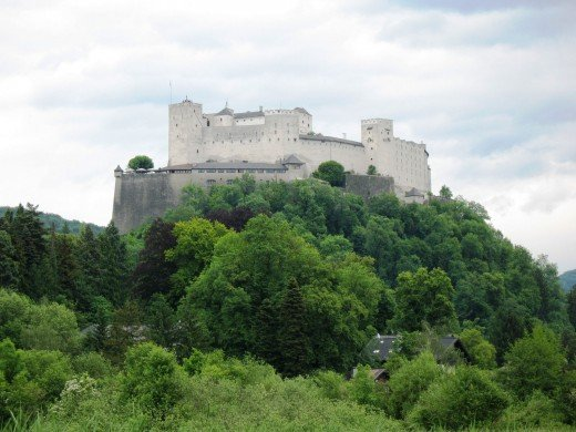 Hohensalzburg as seen from Leopoldskron