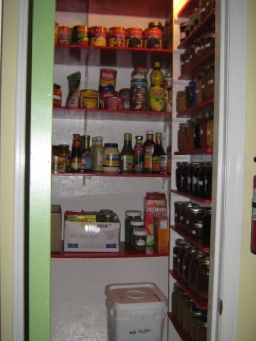 Pantry shelving and contents by kevinw1