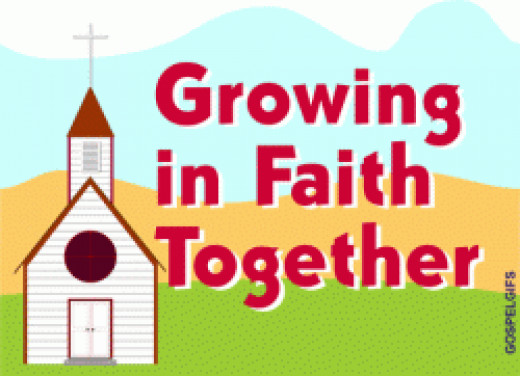 Growing in Faith Together Graphic from Gospelgif.com