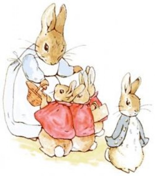 Lovely pastels are characteristic for Beatrix Potter